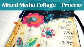Mixed Media Journal For Beginners - Art Journal Tutorial Start To Finish