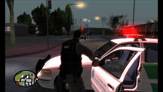 US Border Patrol Exciting Pursuit / Shootout - GTA SA