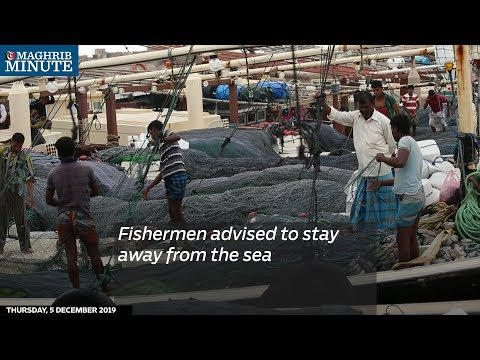 Fishermen advised staying away from the sea