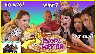 Every Pizza Topping Pizza Challenge! Ft. Ohana Adventure & April And Davey / That YouTub3 Family