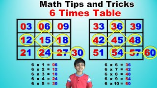 Learn 6 Times Multiplication Table | Easy and fast way to learn | Math Tips and Tricks