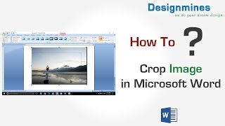 How to Crop Image / Picture in Word Document
