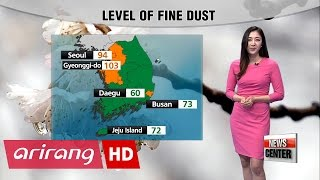 High level of fine dust continues with rain expected in the southern regions