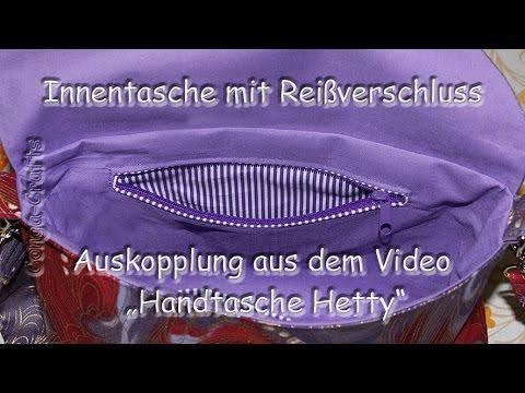 Innentasche mit Reißverschluss nähen / inner pocket with zipper