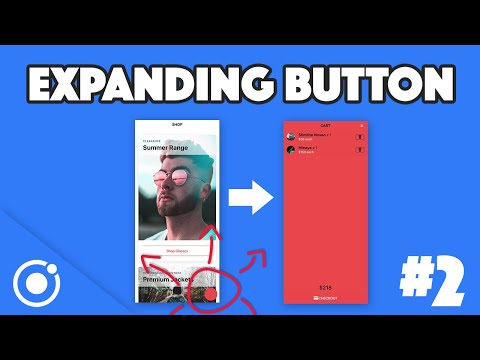 EXPANDING BUTTON SCREEN TRANSITION - Ionic UI Challenge #2