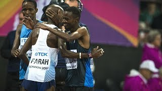 Refugee athlete meets hero Sir Mo Farah