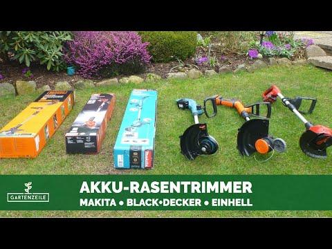 Akku-Rasentrimmer Test - 3 Geräte im Test (Makita, Black+Decker, Einhell)
