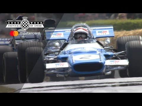 Sir Jackie Stewart and sons stunning F1 championship celebration at Goodwood