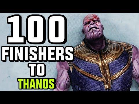 WWE 2K19 100 Finishers To Thanos!