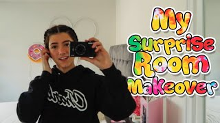 My Surprise Room Makeover For My 16th Birthday!  | Charli DAmelio