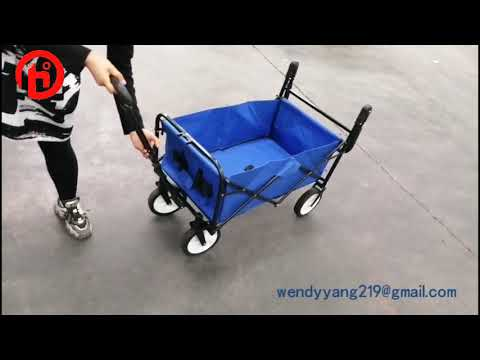 Outdoor push pull  Collapsible folding wagon with adjustable handle stroller cart