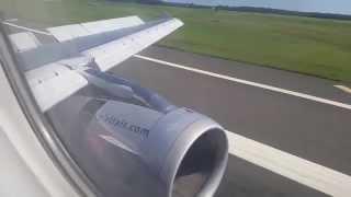 Spirit Airlines Airbus A319 Arrival into Atlantic City, NJ