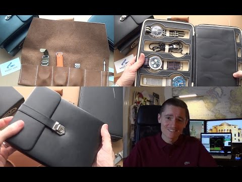 The Best 3 Travel Cases For Your Watches - Wolf Design, WCWC Luxury Watch Roll & Deals On Amazon