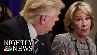 DeVos Proposes Changes To The Way Colleges Handle Complaints Of Sexual Misconduct | NBC Nightly News