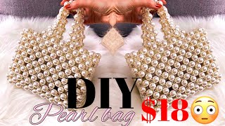 HOW TO MAKE VINTAGE PEARL BEAD BAG // BEAD BAG VINTAGE TOTE // HOW TO MAKE A BEAD BAG || MSS WINNIE
