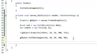 C# Tutorial 61 - Drawing Lines and Rectangles