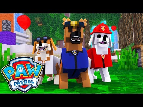 PAW PATROL IN MINECRAFT - Dog rescue Mission! (Paw Patrol Mod)