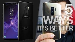 Samsung Galaxy S9 vs Apple iPhone X! 5 Ways It's Better