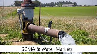 Sustainable Groundwater Management Act: The Role and Design of Groundwater Markets