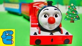 プラレールトーマス おしゃべりジェームス改造 Plarail Thomas Upgrade Talking James Christmas Version [English Subs]
