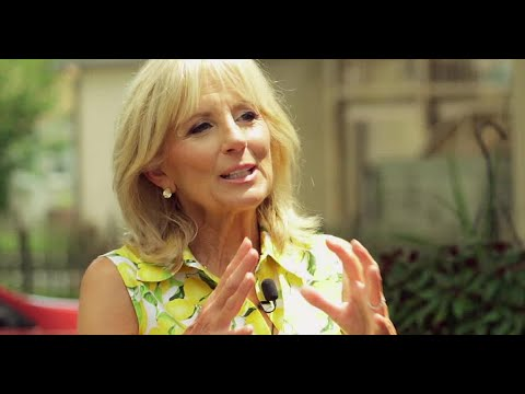 Dr  Jill Biden on family teaching loss and levity
