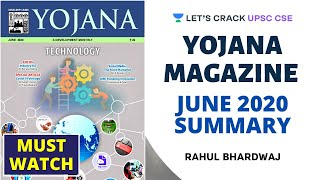 Yojana Magazine - June 2020 Summary | Crack UPSC CSE/IAS 2020-21 | Rahul Bhardwaj  IMAGES, GIF, ANIMATED GIF, WALLPAPER, STICKER FOR WHATSAPP & FACEBOOK
