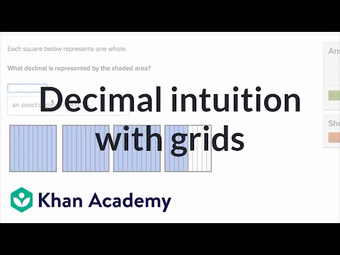 Writing decimal numbers shown in grids (video) | Khan Academy