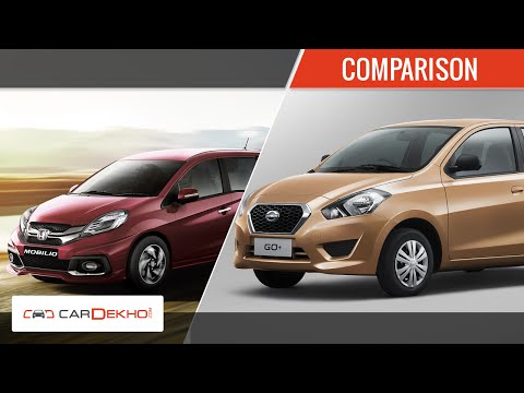 Datsun Go+ Vs Honda Mobilio | Comparison Video | CarDekho.com