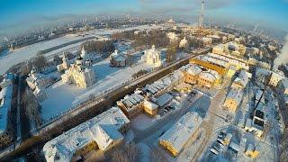 Зимний полёт на воздушном шаре над Великим Новгородом