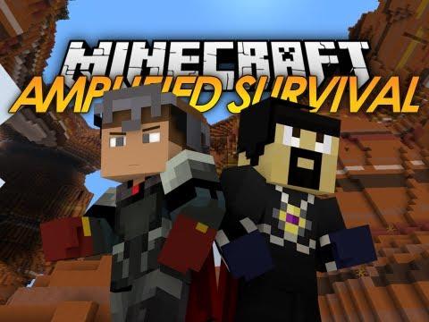 Minecraft: Amplified HARDCORE Survival - It Begins! w/ AntVenom (1)