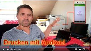 Drucken im WLan oder LAN Netzwerk mit Android Smartphone Handy