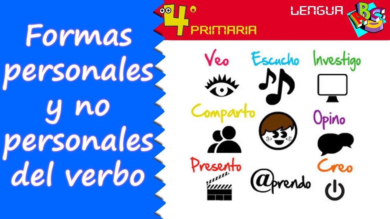 Lengua Castellana. 4º Primaria. Tema 5. Formas personales y no personales de los verbos