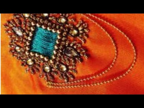 Blouse Design With French Knots | Aari Works | Maggam Works | #129