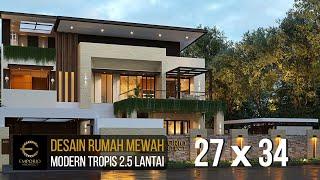Video Desain Rumah Modern 2.5 Lantai Bapak Budi di  Jakarta Timur