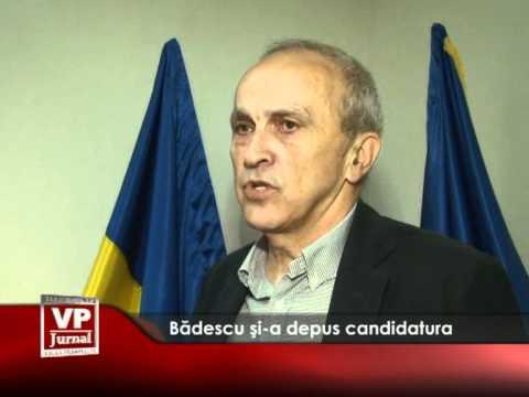 Bădescu și-a depus candidatura