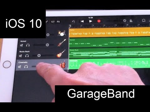 Garageband on iPad with iOS 10 – a tutorial