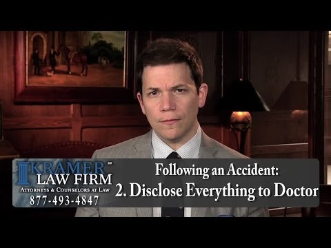 Personal Injury Attorney - Avoid These Mistakes During Doctor Follow-Ups After Automobile Accidents