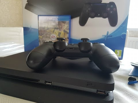 PlayStation 4 / 500GB PS4 Slim & Fifa 2017 Unboxing
