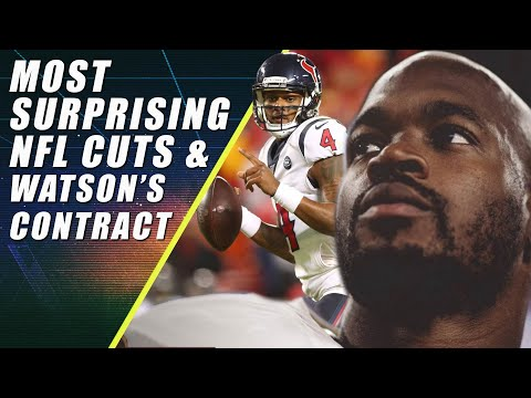 Most Surprising NFL Cuts & Watson's New Contract