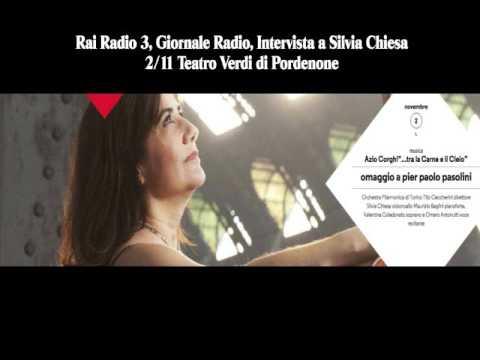 Intervista Silvia Chiesa GR Radio 3 02/11/15