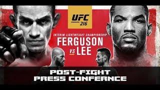 UFC 216 Press Conference: Tony Ferguson vs Kevin Lee (FULL Post-Fight)
