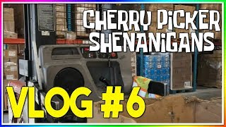 VLOG #6: CHERRY PICKER SHENANIGANS - HOW TO OPERATE A CHERRY PICKER
