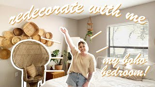 Redecorate My Boho Bedroom With Me!