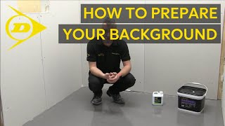 Top Tip – Background Preparation