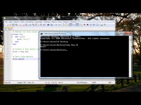 Ruby Tutorial – 1.4 Creating Your First Program!