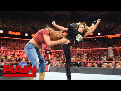 Download Trish Stratus & Lita pummel Alexa Bliss & Mickie James: Raw, Oct. 8, 2018 HD Mp4 3GP Video and MP3