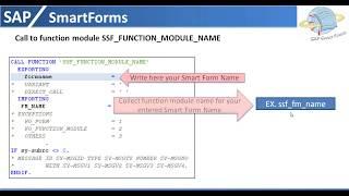 Driver program for SAP SmartForms