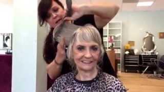 platinum shag haircut