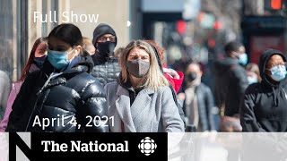 CBC News The National April 4 2021 1 million COVID cases William Shatner interview Video