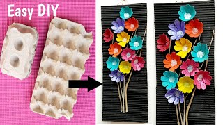 Beautiful Egg Carton Craft To Decorate Your Room/Egg Tray Wallhanging Craft Idea /Egg Tray Wall Art
